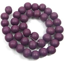 "12x10mm Purple Wood Rondelle Beads 16"""""