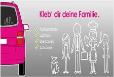 My Family Car Windows Sticker Stick Figure Family dad mum girl boy Decal
