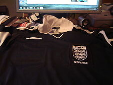 Referee Umbro Wembley Black Kit S/S shirt Small , FA badge  shorts socks