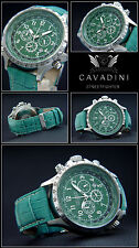 CAVADINI Streetfighter Herren-Chronograph, drehbarer Ring, Tachymeter, mintgrün