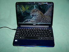 "Blue Acer Aspire One 751h  ZA3 2GB RAM 250GB HDD 11.6"" Ultra Slim WiFi Netbook"