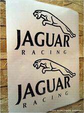 x2 JAGUAR Black Racing Sport Die Cut High Cast Vinyl Decals Sticker XJ XF XJR XE