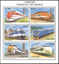 Lesotho 1996 Locomotives/Trains/Engines/Rail/Railways/Transport 6v sht (s463)