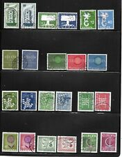 GERMANY EUROPA STAMPS 1956 TO 1994 USED