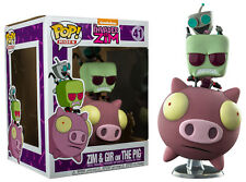FUNKO POP VINYL RIDES INVADER ZIM ZIM AND GIR ON THE PIG EXCLUSIVE FIGURE RIDE