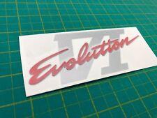 Mitsubishi Evo 6 Evolution GSR VI Tailgate hatch replacement Decal Sticker Badge