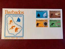 BARBADOS 1984 FDC OLYMPICS SAILING CYCLING SHOOTING TRACK & FIELD ATHLETICS