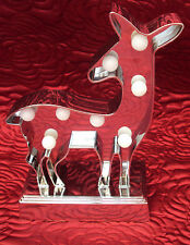LED Christmas Light Silver Deer (Battery operated) Xmas gift/stocking filler NEW