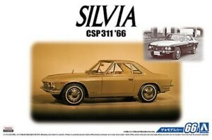 AOSHIMA 05550 1/24th SCALE NISSAN SILVIA 1966 PLASTIC MODEL CAR KIT