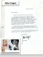 Jim Unger, Cartoonist, creator of Herman, on letter dated 1976 (8520