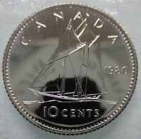 1980 CANADA 10 CENTS SPECIMEN DIME