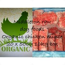 More details for frozen dog food organic chicken mince 20 x 500g bags 10kg box .barf raw diet