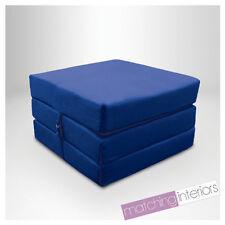 bleu 100% coton replié simple lit Z Cube invité futon FAUTEUIL-LIT Budget studio