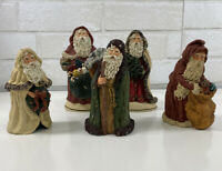 June McKenna SANTA Figurine Lot Of 5 Old Saint Nick 1987 1988 1989 (2 Numbered)