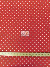 SMALL POLKA DOT POLY COTTON PRINT FABRIC-Red/White-SOLD BTY POLYCOTTON - P92