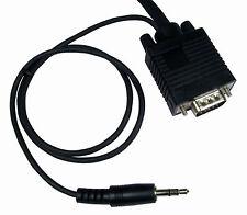 3m Macho Vga Pc Monitor Plomo con construido en 3.5 Mm Sonido Estéreo Audio Jack Cable Av