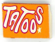 TATOOS MINI BOOK Orange Star Cover VENDING Gumball Prize Charm Tattoos Tiny red