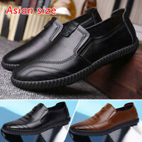 Mens Smart Casual Formal Slip On Loafers Work Office Driving Walking Shoes Sizes