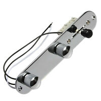Guitar Prewired Loaded Control Plate for Fender Telecaster Tele Parts Chrome