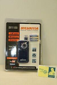 "NEW Sylvania DV1100 Digital Video Camera 1.8"" screen 4X Digital Zoom SD Slot"