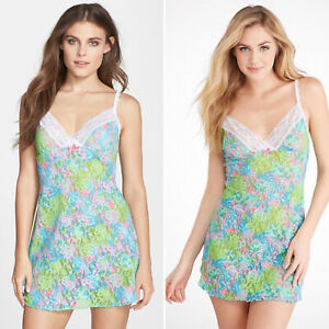 Hanky Panky Loves Lilly Pulitzer Checking In Chemise Slip Size Small $98 8L5991