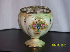 Crown Devon Fieldings Antique Hand Painted Vase w/Base