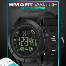 Black Mens Waterproof Smart Watch Sport Military Grade Super Tough Tact Outdoor