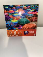 300 PIECE PUZZLE ~ MB PUZZLE ~ COLORFUL UMBRELLAS ~ NEW ~ FREE SHIPPING