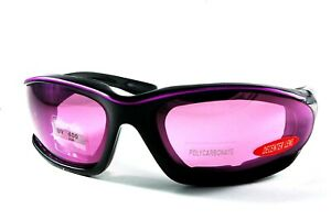 UV8847A Purple Strap with Purple Motorcycle Sunglasses for Woman or Small Head