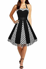 Party Spotted Regular Size Sleeveless Dresses for Women