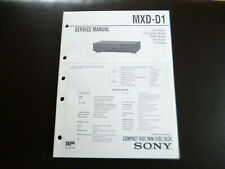 Original Service Manual Schaltplan  Sony MDS-D1