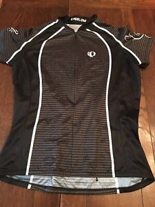 Women's Pearl Izumi Black/White Short Sleeve Large Cycling Jersey