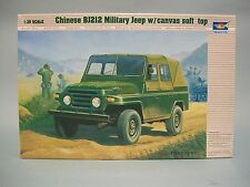 Chinese BJ212 Military Jeep Soft Top Trumpeter Model Kit #02302 CIB
