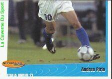 74 ANDREA PIRLO 2/2  AZZURRINI ITALIA UNDER 21 STICKER SUPER CALCIO 2001 PANINI
