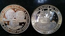 APOLLO 11 Moon Landing NASA Gold CoinFoot Print Moon Neil Armstrong Buzz Aldrin