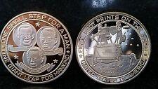 APOLLO 11 Moon Landing NASA Gold CoinFoot Print Moon Neil Armstrong Buzz Aldrin
