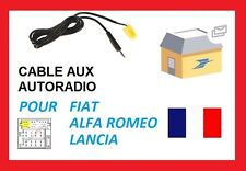 Cable aux jack auxiliaire MP3 IPHONE autoradio FIAT 500 à partir de 10/2007