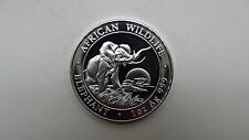 2009 Somalia Elephant Silver BU coin