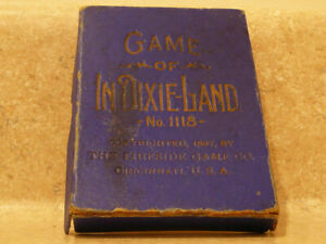 ANTIQUE BLACK AMERICANA DIXIELAND PLAYING CARD GAME 1118 FIRESIDE CINCINNATI OH