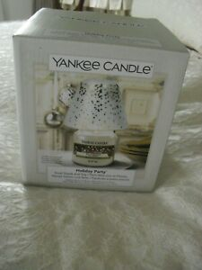 YANKEE CANDLE SMALL SHADE AND TRAY 'HOLIDAY PARTY' (CHRISTMAS) BRAND NEW IN BOX