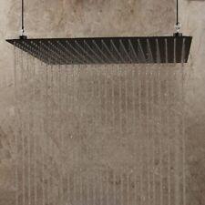 Negro Mate 20 pulgadas cuadradas precipitaciones de montaje en techo ducha cabeza grifo mezclador Delgado