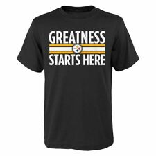 Pittsburgh Steelers NFL Youth Boys Greatness Starts Here T-Shirt Medium (10/12)