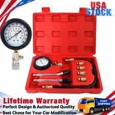 Auto Petrol Gas Engine Cylinder Compression Tester Test Mechanics Gauge Kit