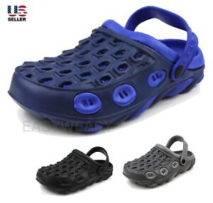 Mens Slippers Slip On Shoes Clogs Sandals Rubber House Outdoor Non Slip Beach