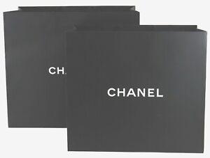 CHANEL Empty Shopping Gift Paper Bag 2P Set Black-49