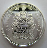 2016 CANADA 50 CENTS PROOF 99.99% PURE SILVER HALF DOLLAR COIN