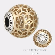 Authentic Pandora Essence Collection Silver & 14k Intuition Bead 796049
