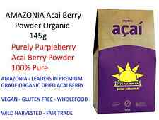 AMAZONIA Acai Berry 145g Powder Organic Purely Purpleberry  100% Pure