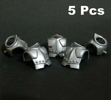 5 Pcs Playmobil Silver Chest Shield Armor