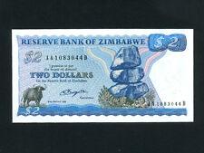 Zimbabwe (Rhodesia):P-1a,2$,1980 * Water Buffalo * UNC *